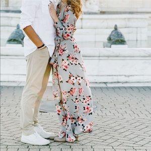 Vici Collection Floral Wrap Dress